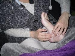 massage de la réflexologie plantaire